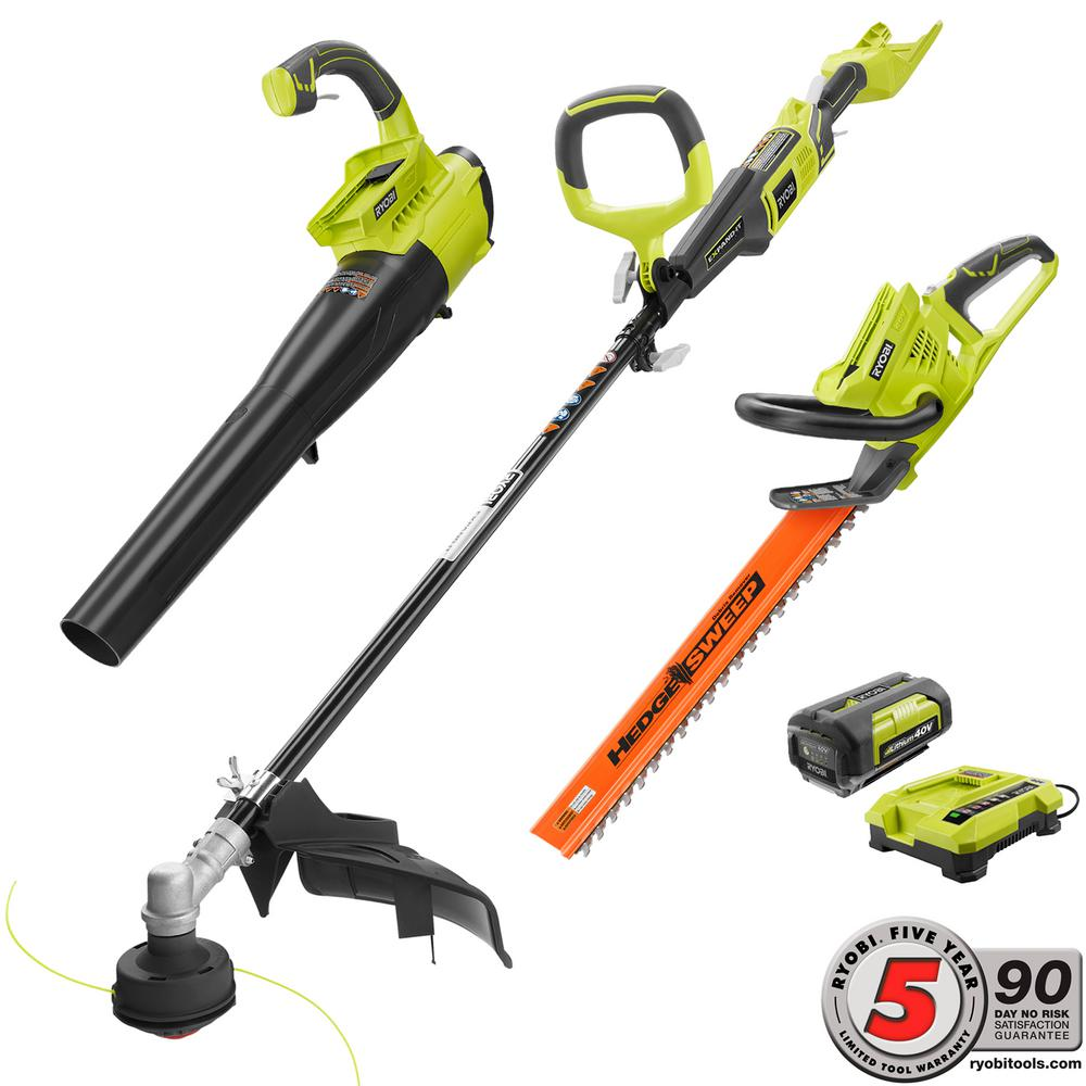 Ryobi Gas Like Power 40 Volt Lithium Ion Cordless Trimmer