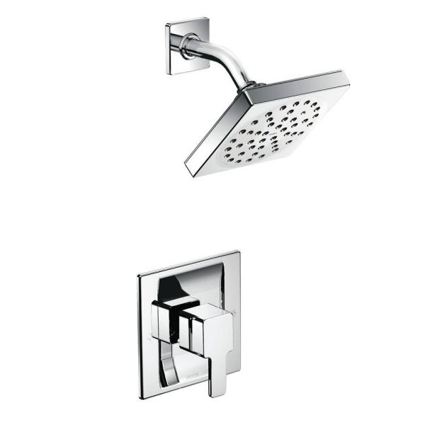 90 Degree  Single-Handle 1-Spray Moentrol Shower Faucet Trim Kit in Chrome (Valve Not Included)