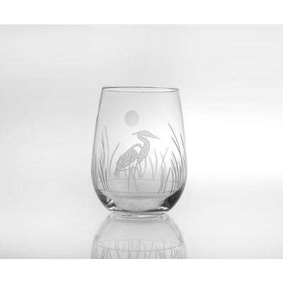 Heron 17 oz. Stemless Wine Glass (Set of 4)