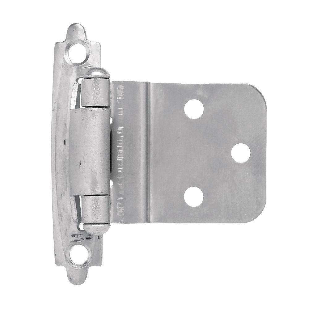 Liberty Matte Chrome Self-Closing 3/8 in. Inset Cabinet Hinge (1 ...