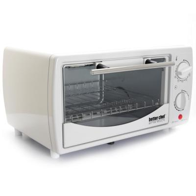 700-Watt 4-Slice White Toaster Oven Broiler