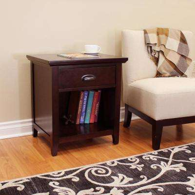 Lindendale 1-Drawer Espresso Side Table