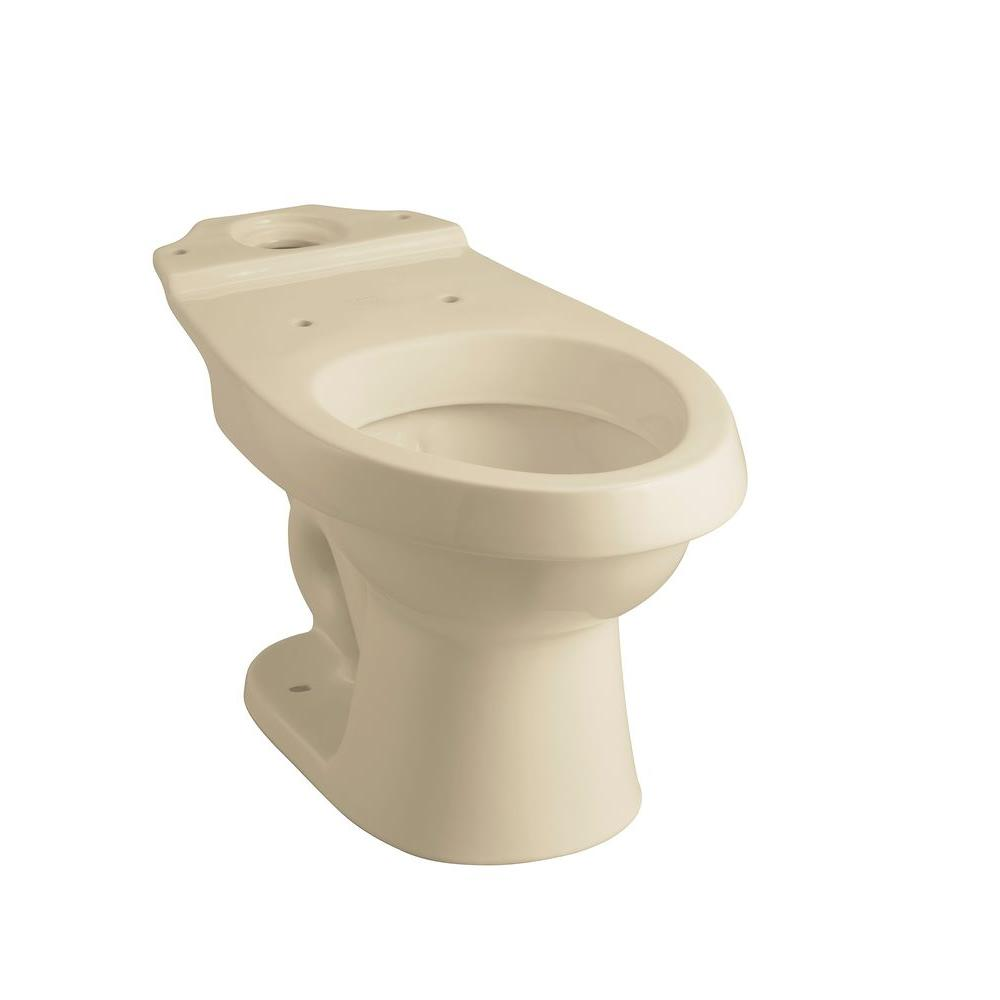 STERLING Rockton 2-Piece 1.6 GPF Elongated Toilet Bowl Only with Dual Force Technology in Almond