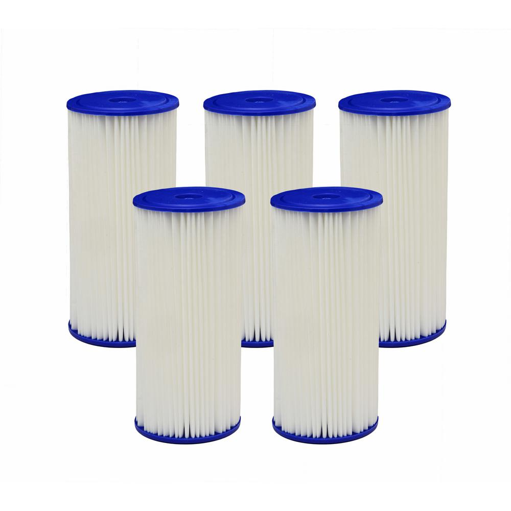 4PF4 Universal Fit Pleated High Flow Whole House Water Filter (Case