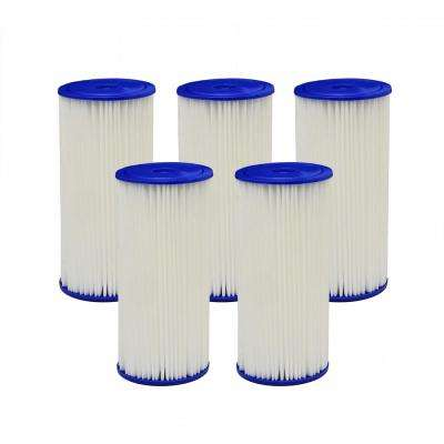 4PF4 Universal Fit Pleated High Flow Whole House Water Filter (Case of 5)