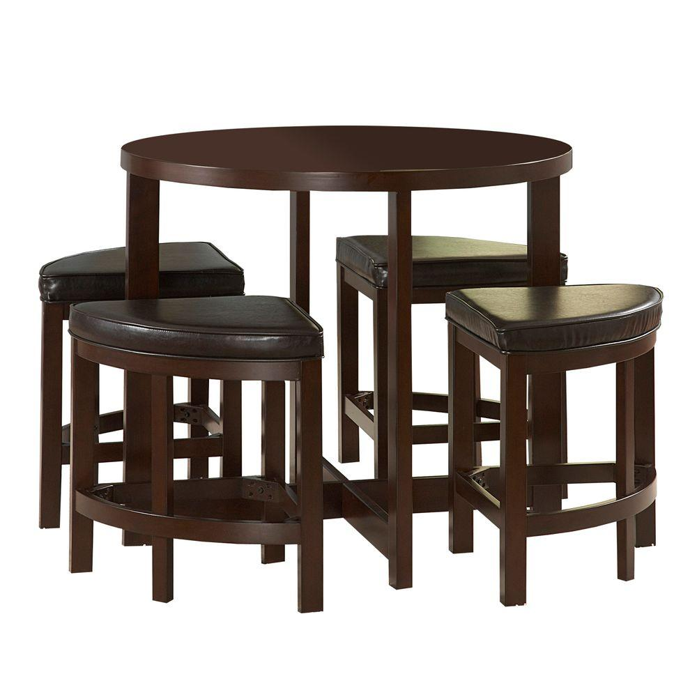 HomeSullivan Wood Top Counter Height Dining Table Set-DISCONTINUED