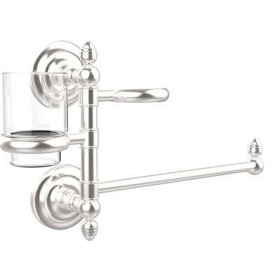 Que New Collection Hair Dryer Holder and Organizer in Satin Chrome