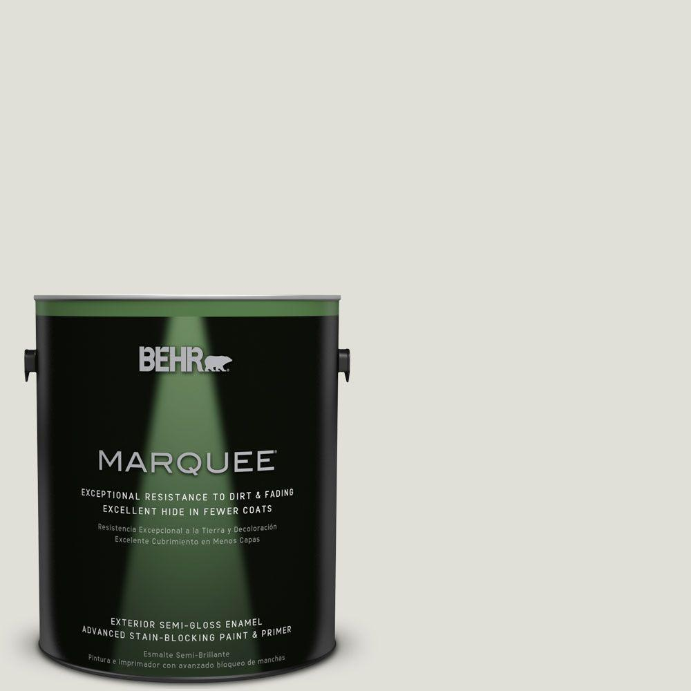 BEHR MARQUEE 1-gal. #N370-1 Roadster White Semi-Gloss Enamel Exterior Paint