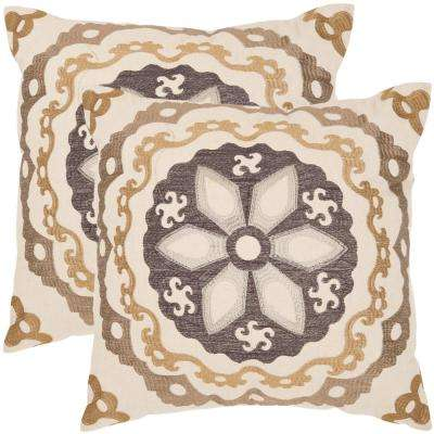 Thea Embroidered Pillow (2-Pack)
