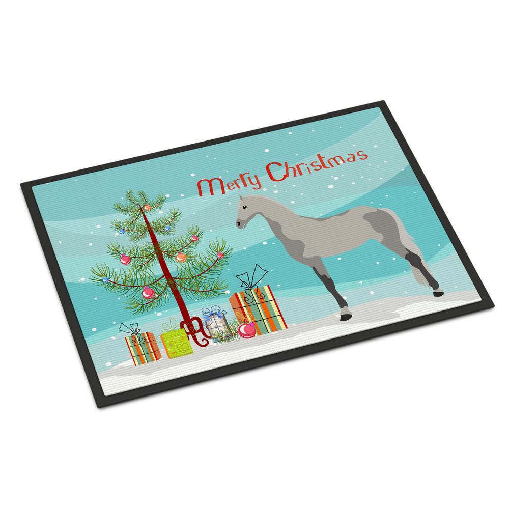 18 in. x 27 in. Indoor/Outdoor Orlov Trotter Horse Christmas Door Mat