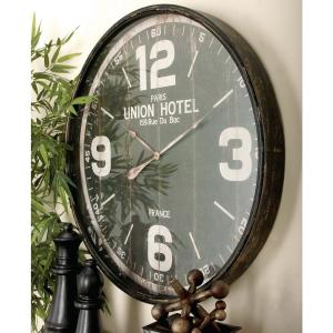 35 in. Old World Inspired Vintage Round Wall Clock