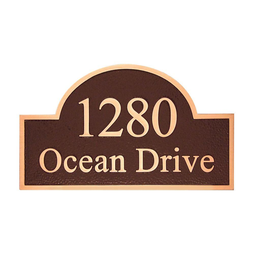 Michael Healy 20 in. x 11.75 in. Stately Arch Authentic Solid Bronze Address Plaque-DISCONTINUED