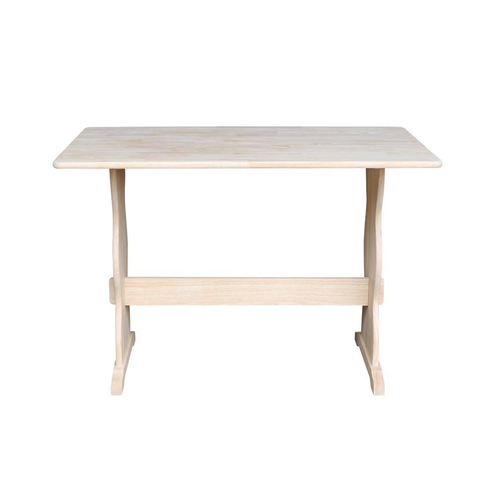 International Concepts Unfinished Trestle Dining Table