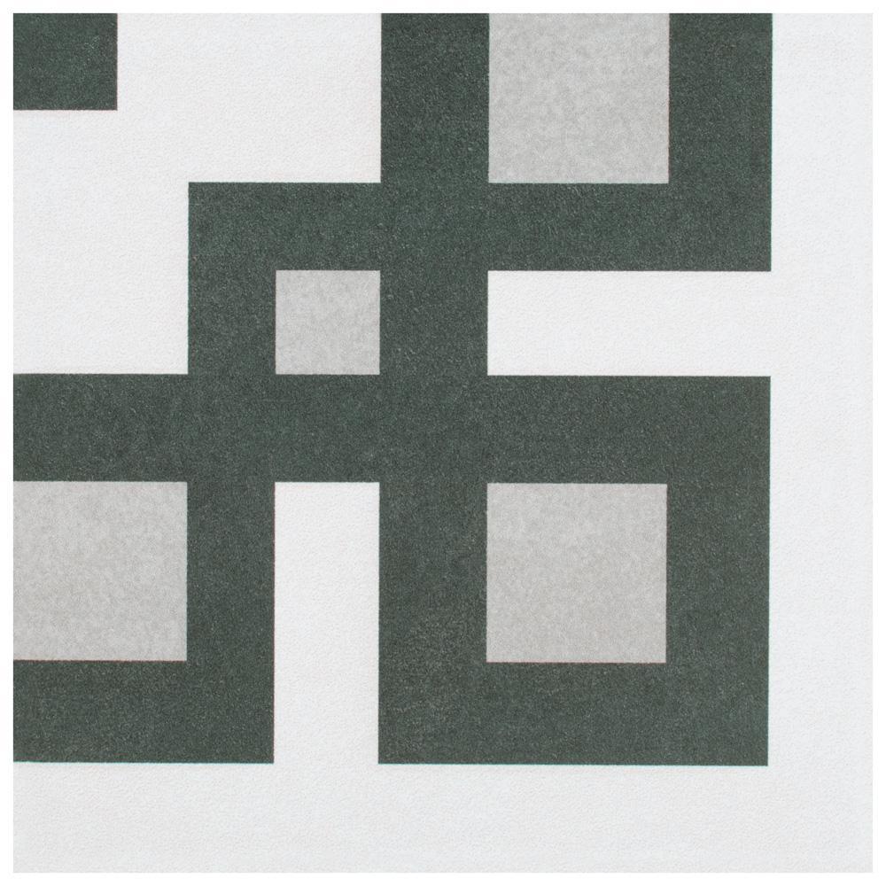 Merola Tile Twenties Corner Encaustic 7-3/4 in. x 7-3/4 in. Ceramic Floor and Wall Tile