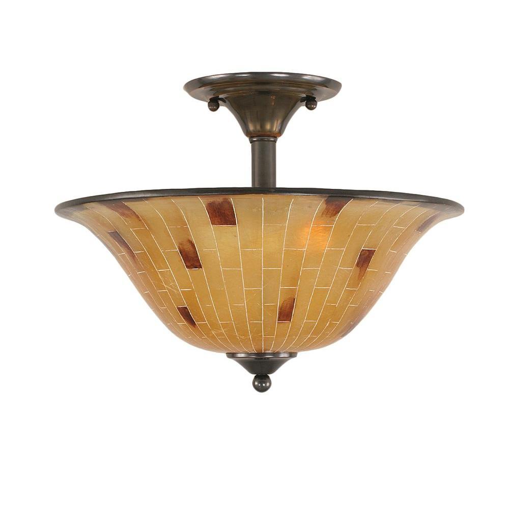 Filament Design Concord 2 Light Black Copper Incandescent