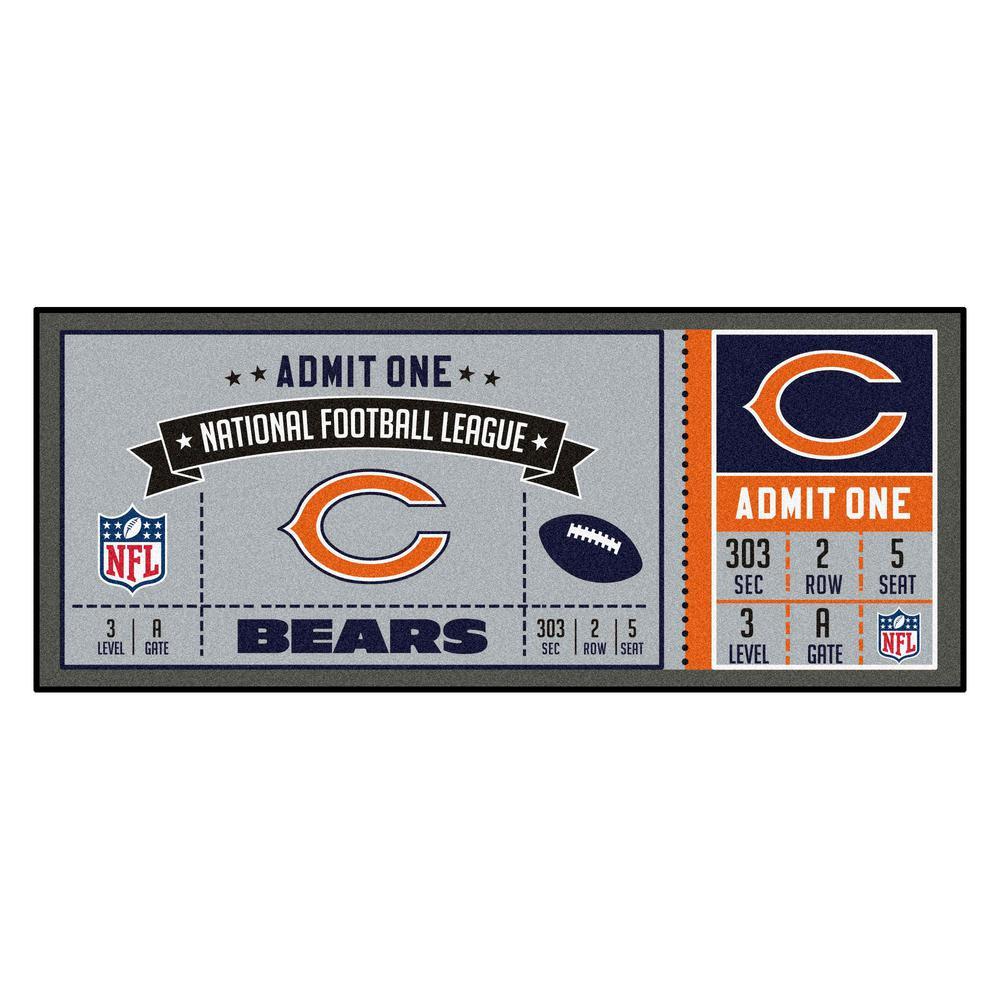 NFL - Chicago Bears 30 in. x 72 in. Indoor Ticket Runner Rug