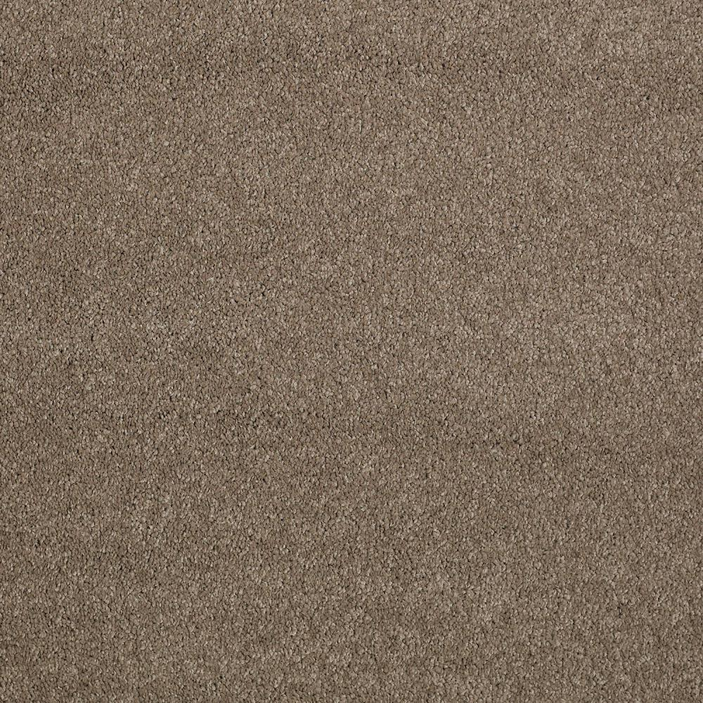 LifeProof Carpet Sample - Coral Reef I - Color Bark Tone Texture 8 in. x 8 in.