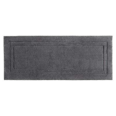 Imperial 24 in. x 60 in. Cotton Runner Bath Rug in Pewter