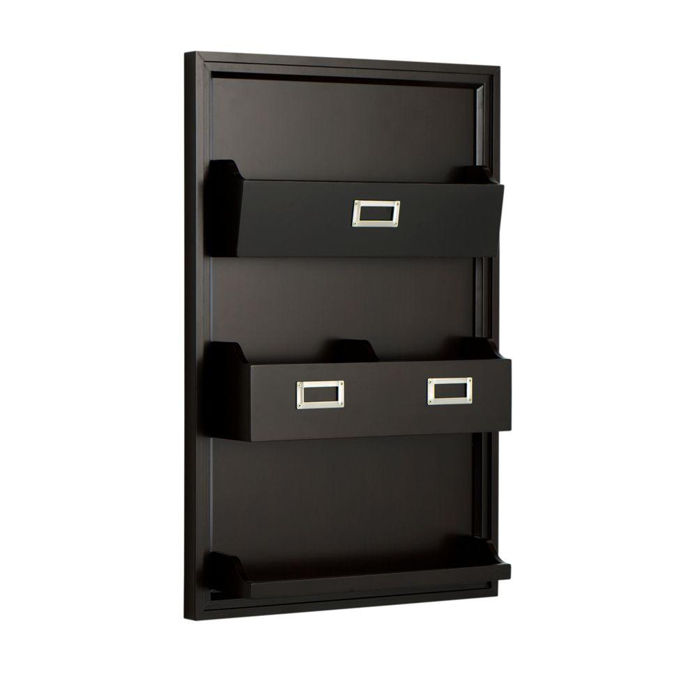 Home Decorators Collection Nathan Wall Magazine Rack in Espresso