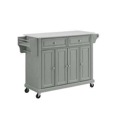 Full Size Gray Kitchen Cart
