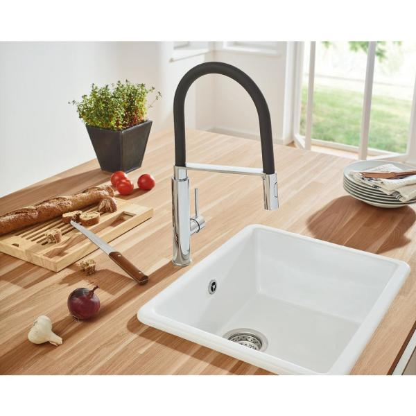 Grohe Concetto Single Handle Pull Down Sprayer Kitchen Faucet In Starlight Chrome 31492000 The Home Depot