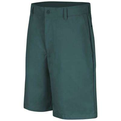 Men's Size 31 in. x 10 in. Spruce Green Plain Front Short