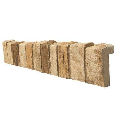 Ledgestone 24 in. x 11 in. x 11 in. Faux Stone Keyed Corner in Mountain Country