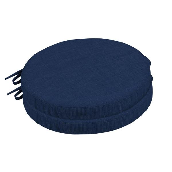 Sapphire Aurora Round Foam Outdoor Seat Cushion (2-Pack)