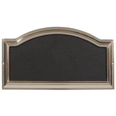 Rectangular Arch-Top Satin Nickel Plated Address Plaque