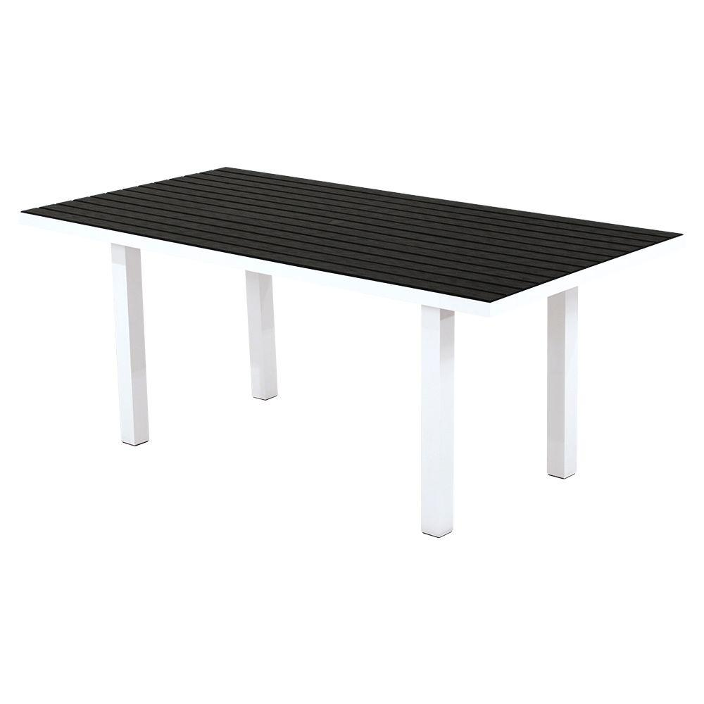Satin White Black Patio Dining Table Euro Product Picture 2526