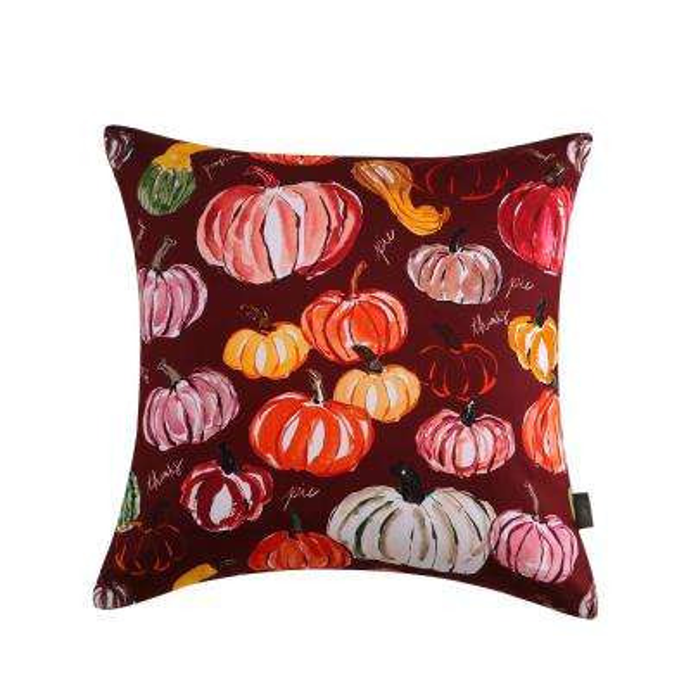 Pumpkins Reversible 20 in. x 20 in. Decorative Pillow