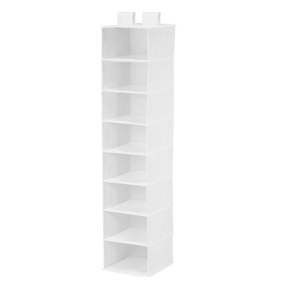 Honey-Can-Do 8-Shelf Hanging White Polyester Organizer