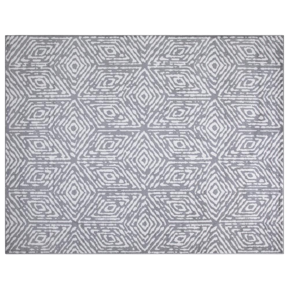 Diagona Designs Montvale Collection Cubes Gray and Ivory 7 ft. 8 in. x 9 ft. 8 in. Area Rug was $149.99 now $97.49 (35.0% off)