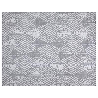 Montvale Collection Cubes Gray and Ivory 7 ft. 8 in. x 9 ft. 8 in. Area Rug