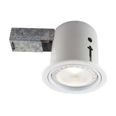 4.5 in. Interior/Exterior White Baffle Recessed Lighting Fixture Designed for Insulated Ceiling