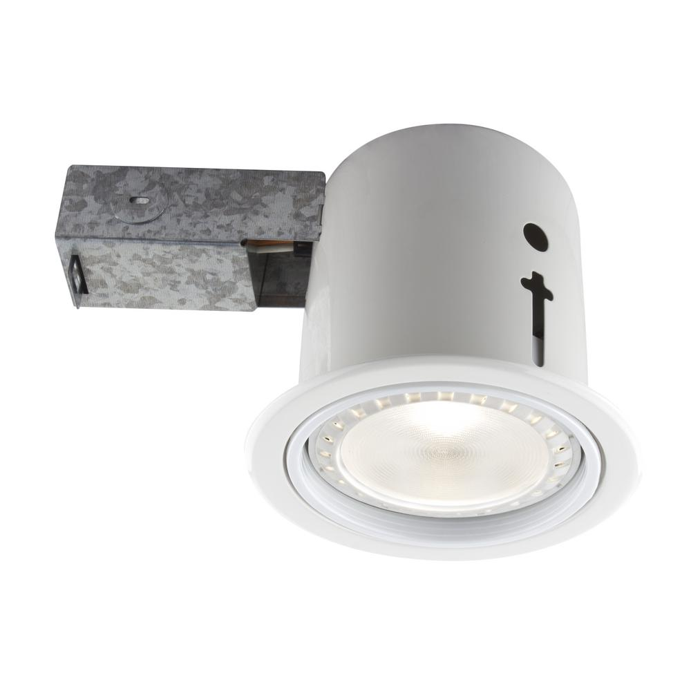Bazz 45 in interiorexterior white baffle recessed lighting interiorexterior white baffle recessed lighting fixture designed for insulated ceiling arubaitofo Choice Image