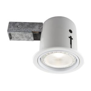 BAZZ 4.5 inch Interior/Exterior White Baffle Recessed Lighting Fixture Designed... by BAZZ
