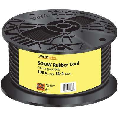 100 ft. 14/4 600-Volt Black SOOW Cord
