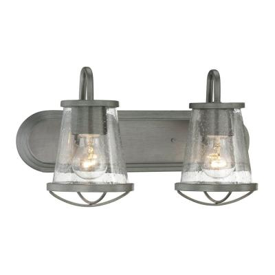 Darby 2-Light Weathered Iron Bath Light