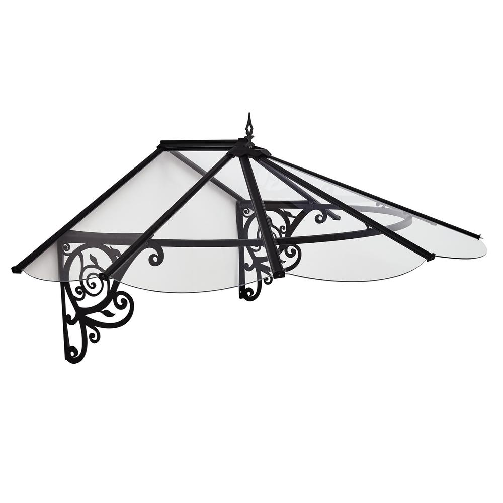 Palram Lily 1780 5 ft. 9 in. Door Canopy Awning (2 ft. 7 in. H x 4 ft. 1 in. D)