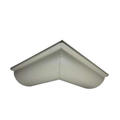 6 in. Half Round Clay Aluminum Outside Miter