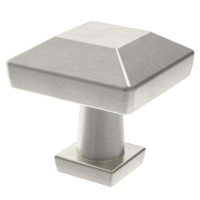 Beveled Square 1 in. (26mm) Satin Nickel Cabinet Knob
