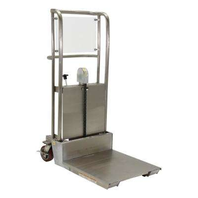 55 in. x 36 in. x 23 in. Foot Pump Partially Stainless Steel Hefti-Lift