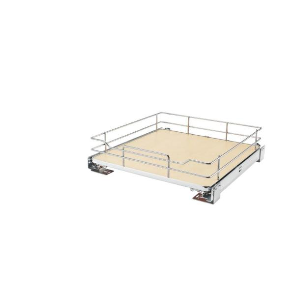 21 in. Pullout Baskets with Maple Solid Bottom