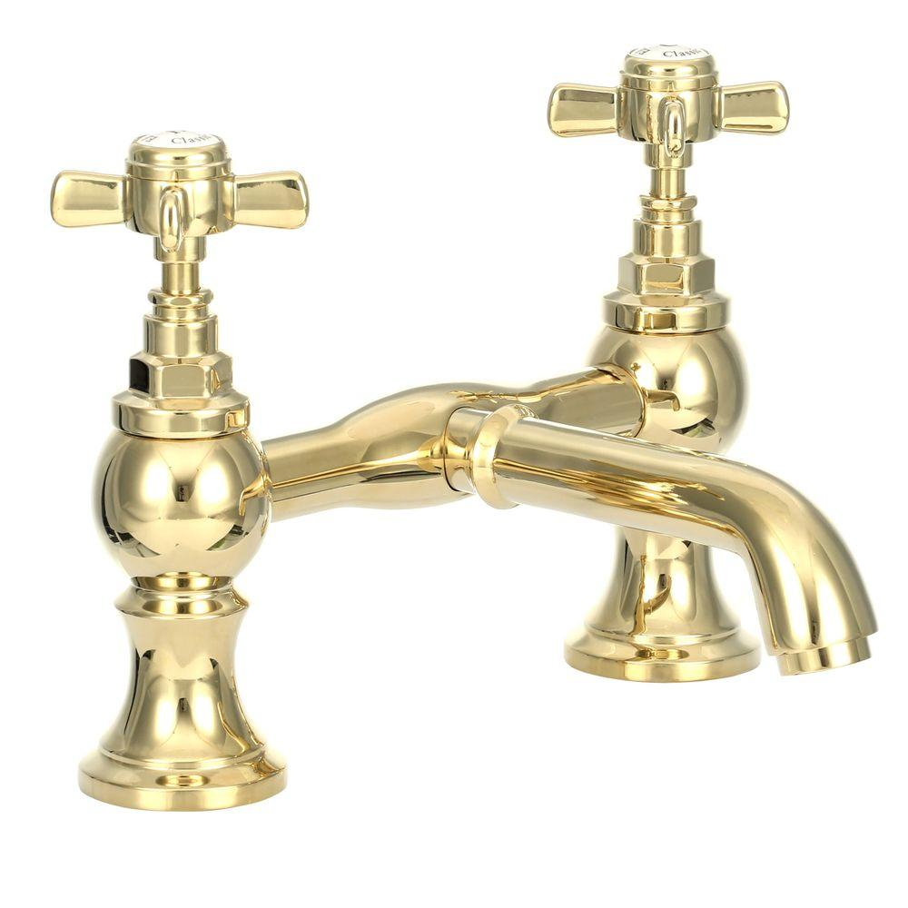 Pegasus 2-Handle Claw Foot Tub Faucet without Hand Shower in ...