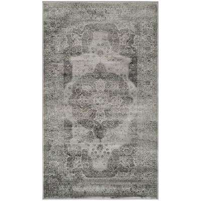Vintage Gray/Multi 3 ft. x 4 ft. Area Rug