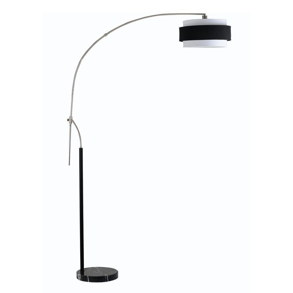 Filament Design Cooper 92 in. Brushed Steel Floor Lamp