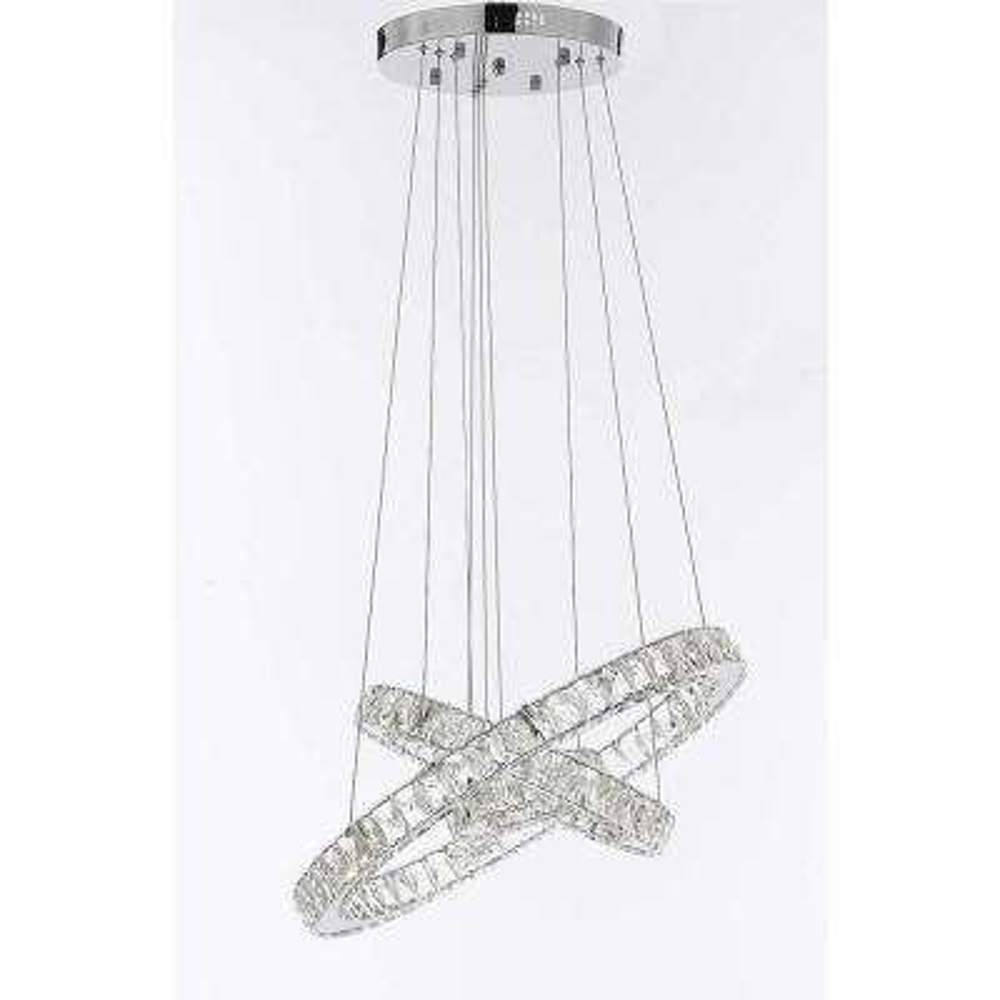 Modern 81 Light Crystal 3 Ring Integrated LED Chandelier