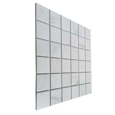 Classic Impressions Carrara 12 in. x 12 in. x 6mm Matte Glazed Porcelain Mesh-Mounted Mosaic Tile