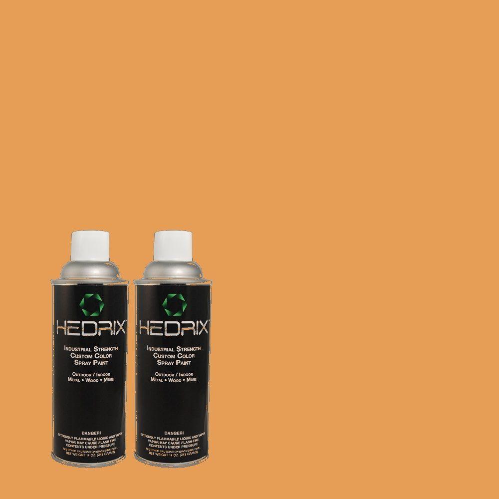 Hedrix 11 oz. Match of 2A16-5 Sun Vista Gloss Custom Spray Paint (2-Pack)